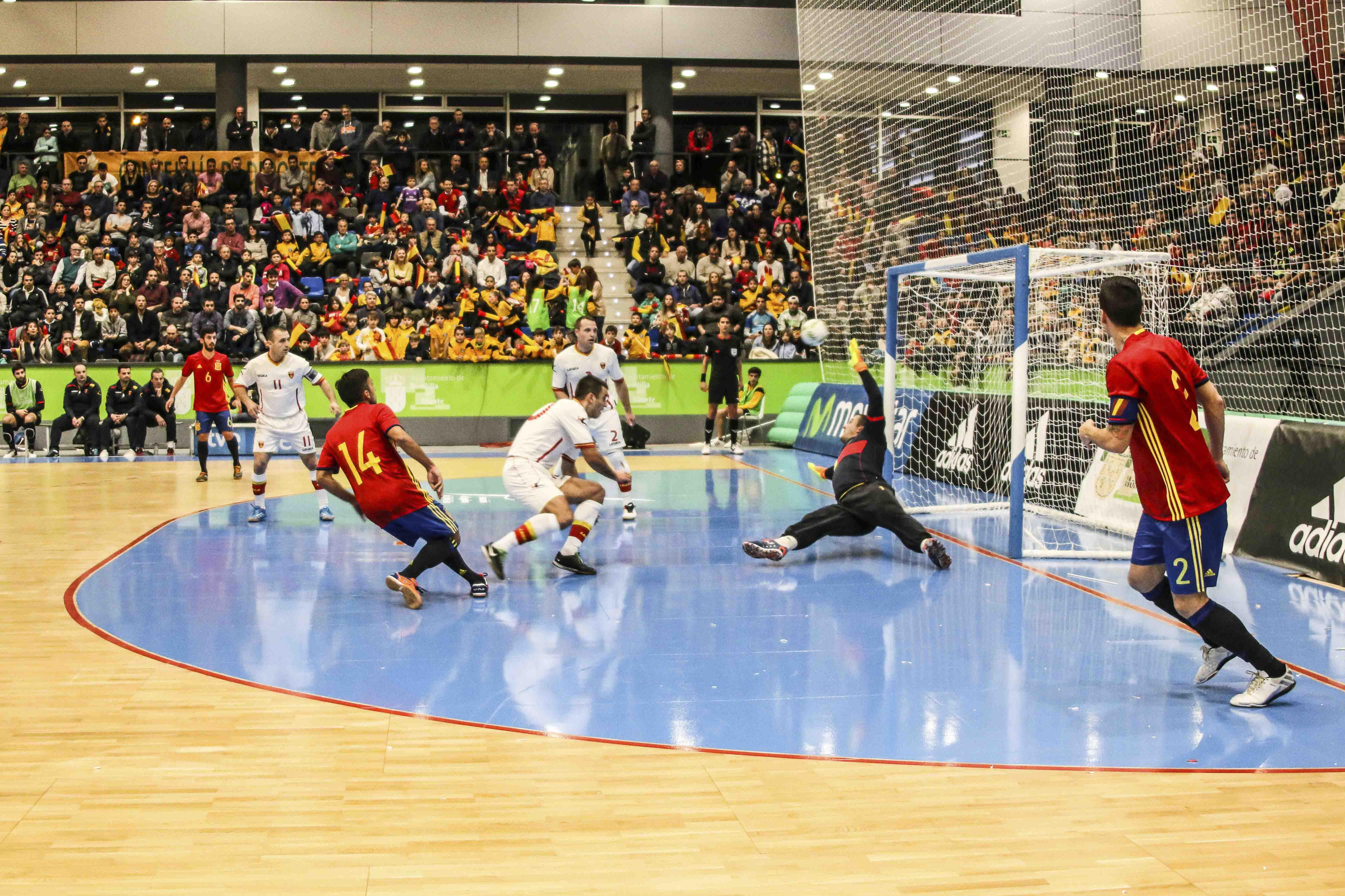 Boadilla vibr con la selecci n espa ola de f tbol sala for Federacion espanola de futbol sala